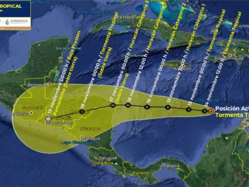 Se esperan precipitaciones muy fuertes para Tabasco, Chiapas, Quintana Roo