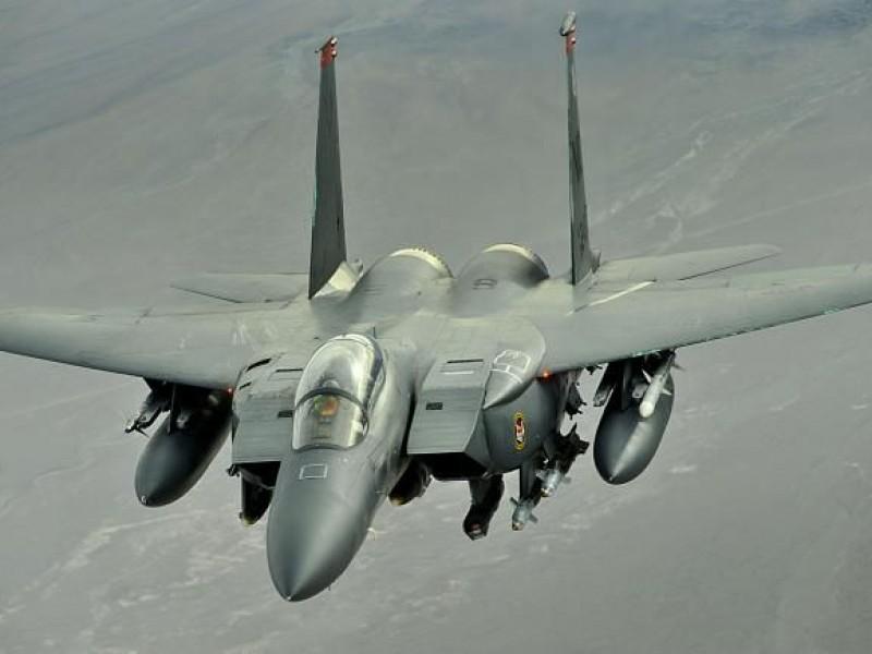 Se estrella avión de combate estadounidense