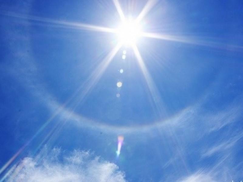 Se forma halo solar en CDMX