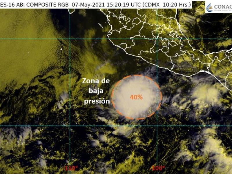 Se formó zona de baja presión, al sur de Guerrero