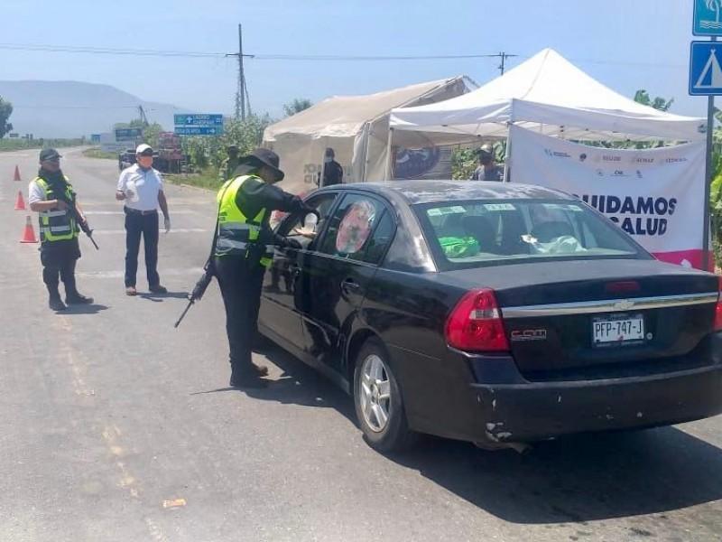 Se fortalece aislamiento obligatorio con filtro en Coahuayana: SSP