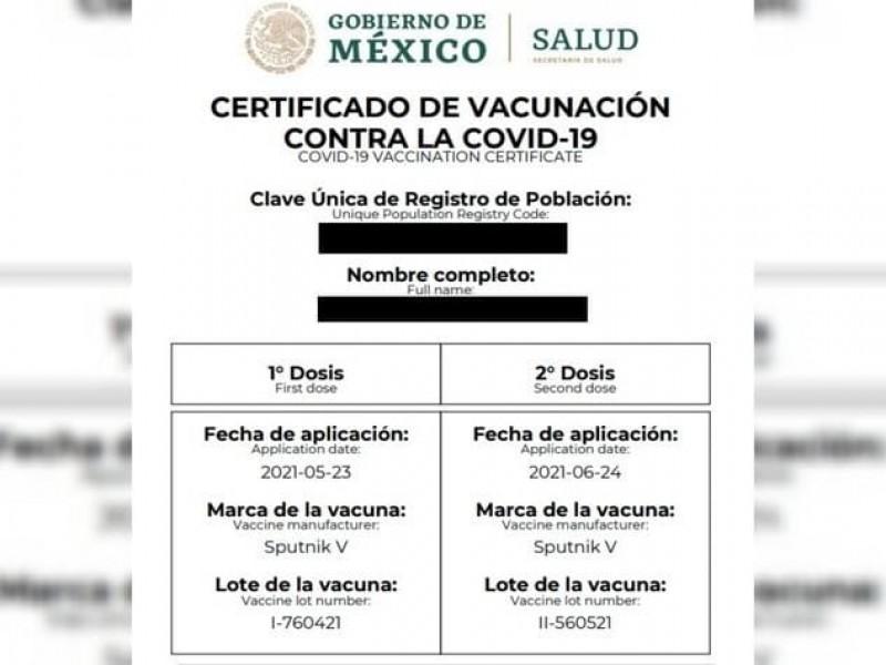 Se han presentado dudas para expedir certificado de vacunación