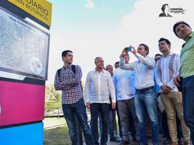 Se inaugura Orquidiario y Biblioteca Maya