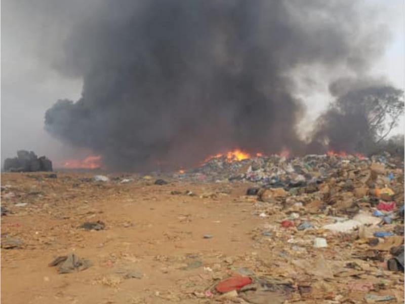 Se incendia basurero en el municipio de Ruíz