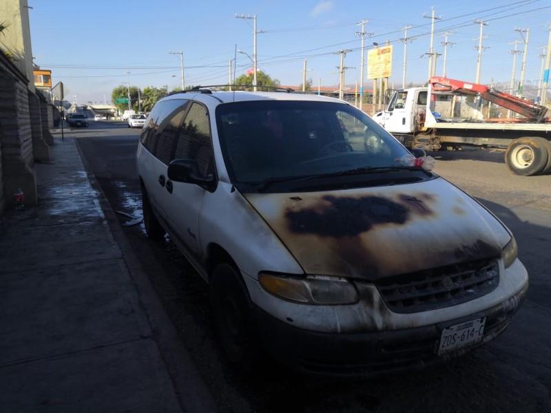 Se incendia camioneta en Guadalupe