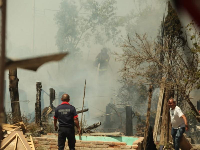 Se incendia casa Valle de Moreno