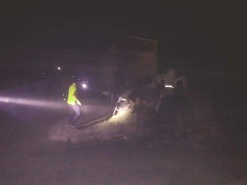 Se incendian camionetas de empresa en Tamiahua