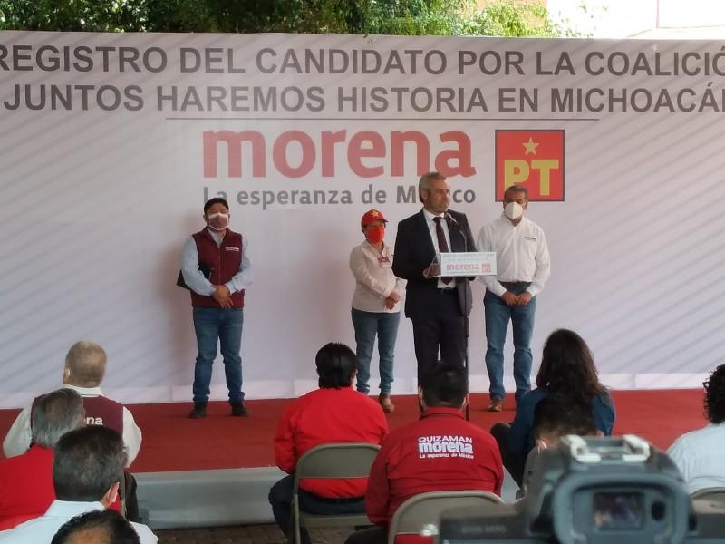 Se irán los corruptos de Michoacán: Alfredo Ramírez