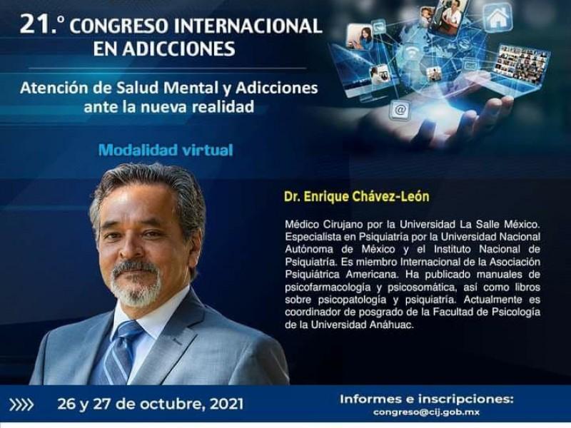 Se llevará a cabo el Congreso Internacional en Adicciones