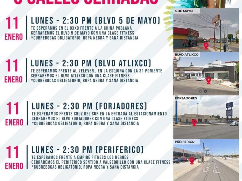 Se manifestarán integrantes de CANAGYM en diferentes puntos de Puebla