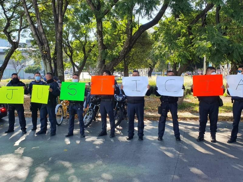 Se manifiestan elementos de SSC para exigir justicia por compañeros