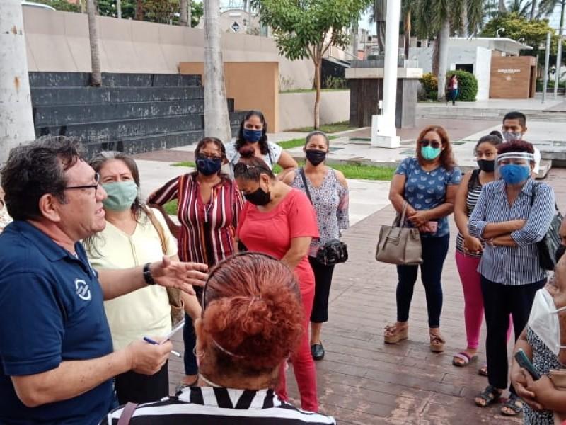 Se manifiestan en Boca del Río por falta de luz