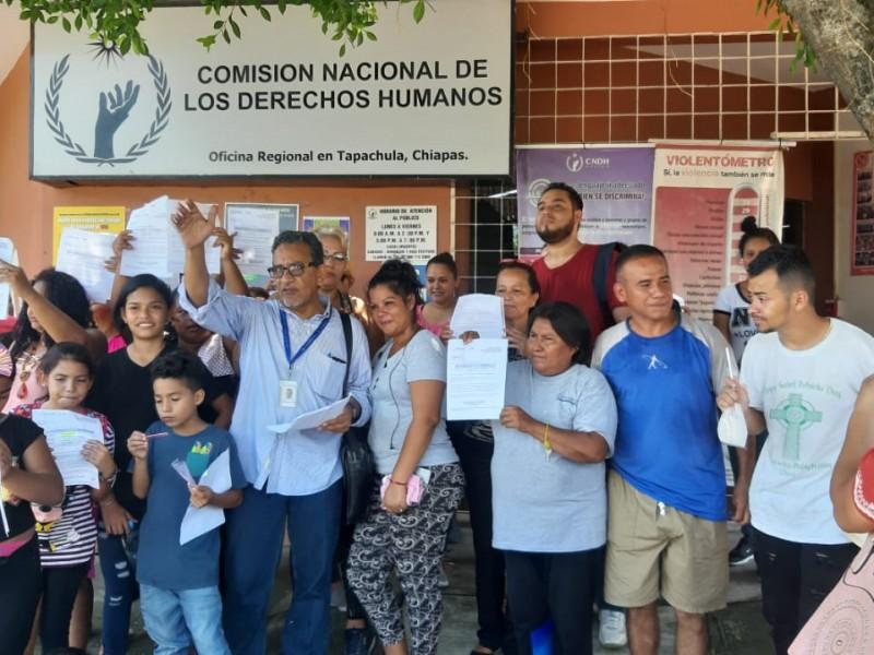 Se manifiestan migrantes en Tapachula