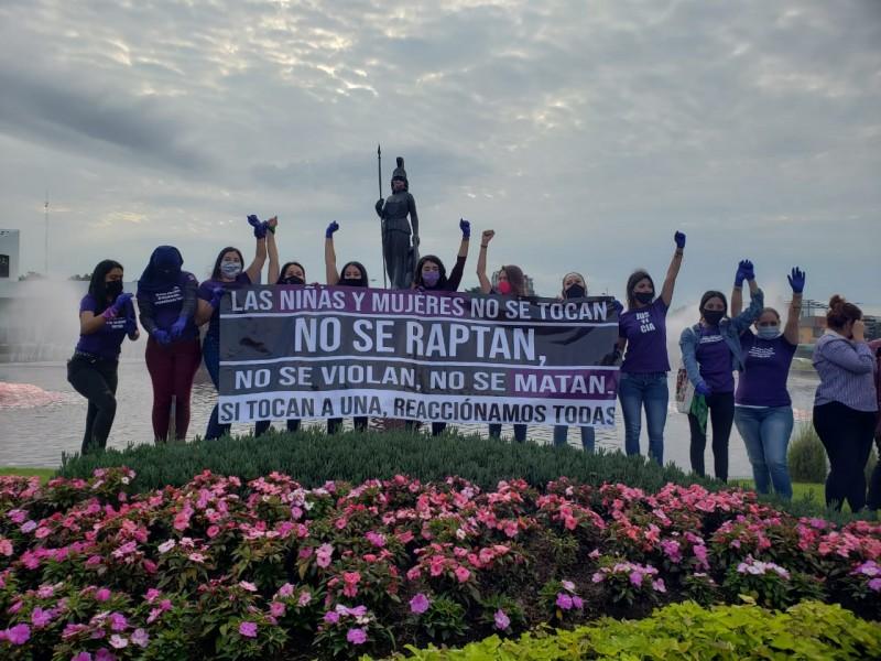 Se manifiestan mujeres para exigir justicia y alto a violencia