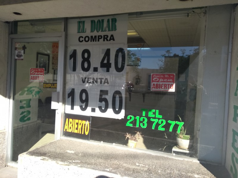 Se mantiene dólar abajo de 20 pesos