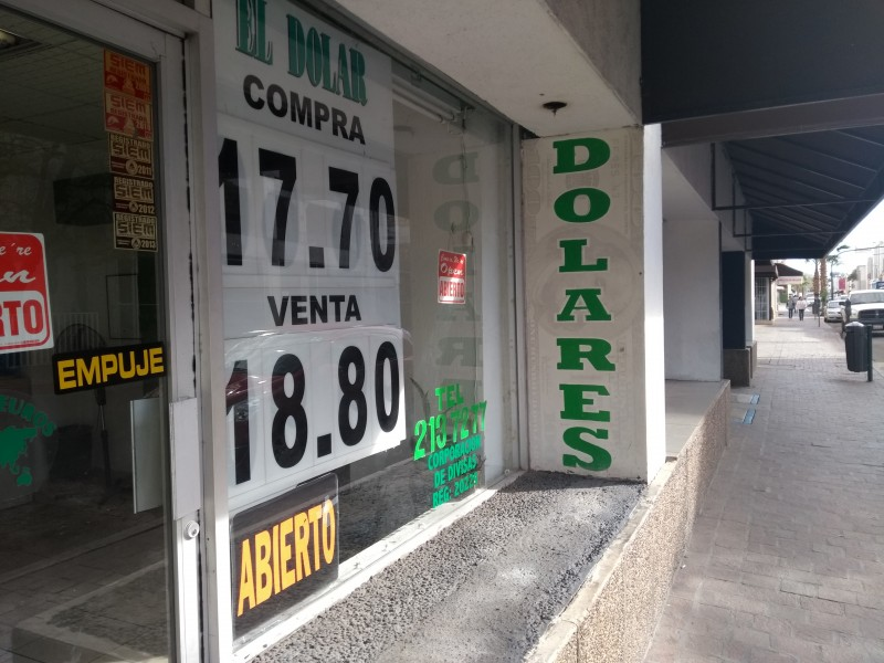 Se mantiene dólar debajo de los 19 pesos