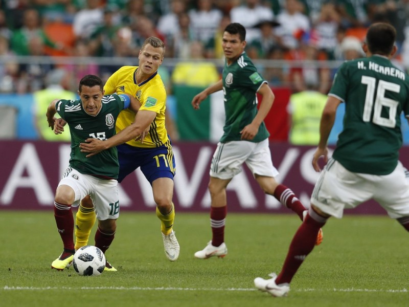 Se mantiene sin goles el México-Suecia