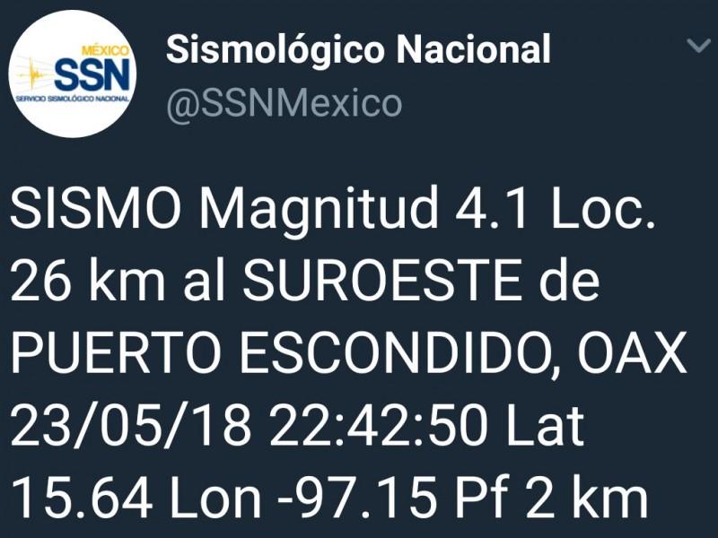 Se percibe sismo con epicentro en Puerto Escondido