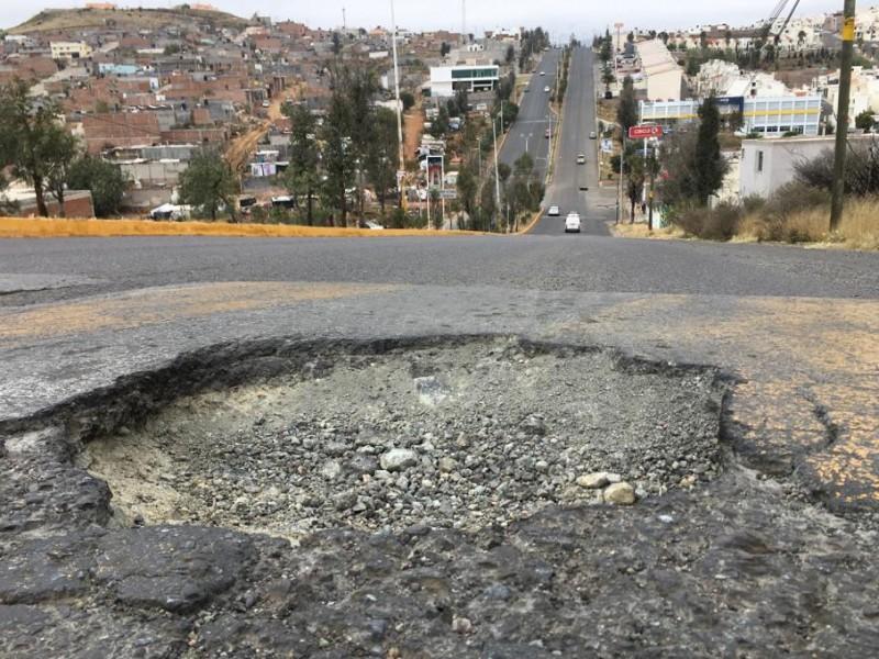 Se planea reparar el 80% del bacheo en Guadalupe