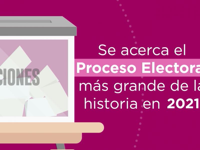 Se prepara el INE para el proceso electoral más grande
