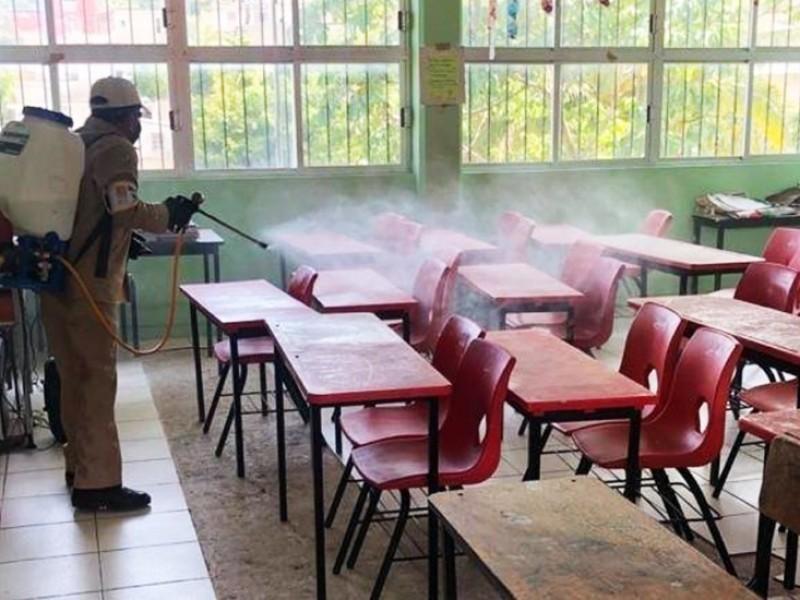 Se prepara zona escolar 165 para retorno presencial a clases
