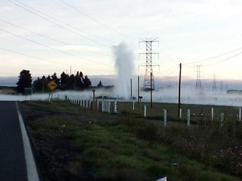 Se presenta fuga de gas en Zacatlán