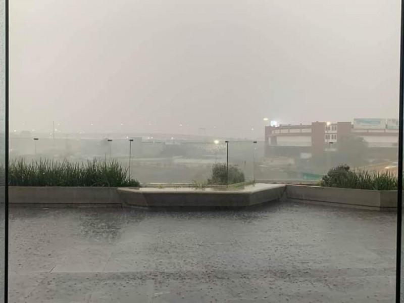 Se presenta lluvia fuerte en zona sur