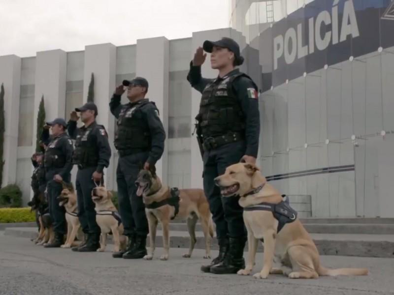 Se reconoce labor de 20 ejemplares caninos jubilados