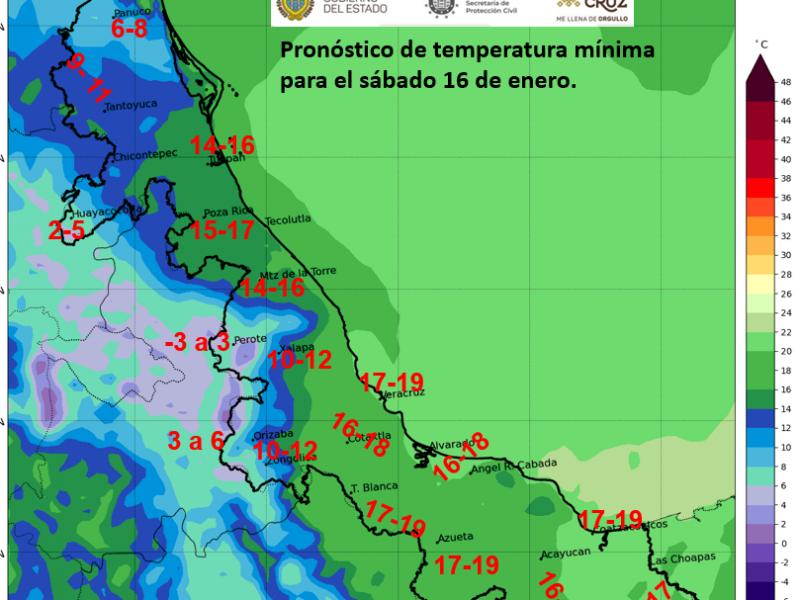 Se recupera gradualmente la temperatura en Veracruz