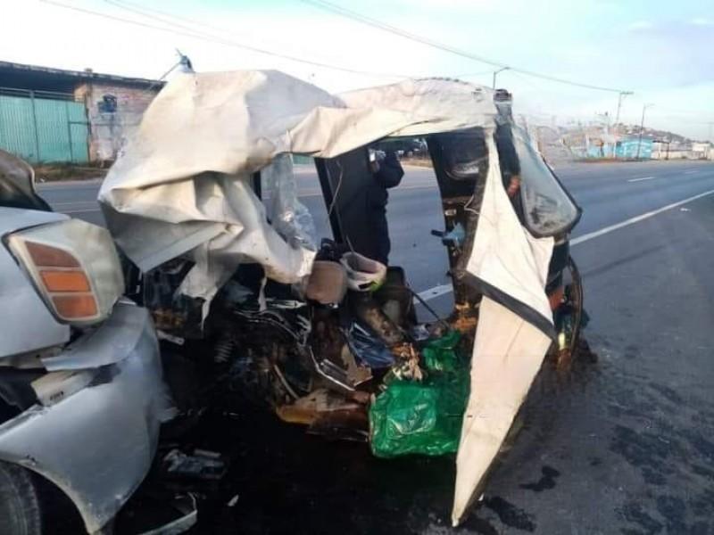Se registra accidente en carretera federal Puebla-Tehuacán