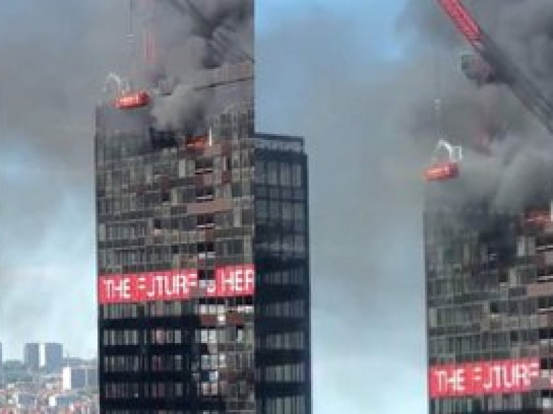Se registra incendio en el World Trade Center de Bruselas