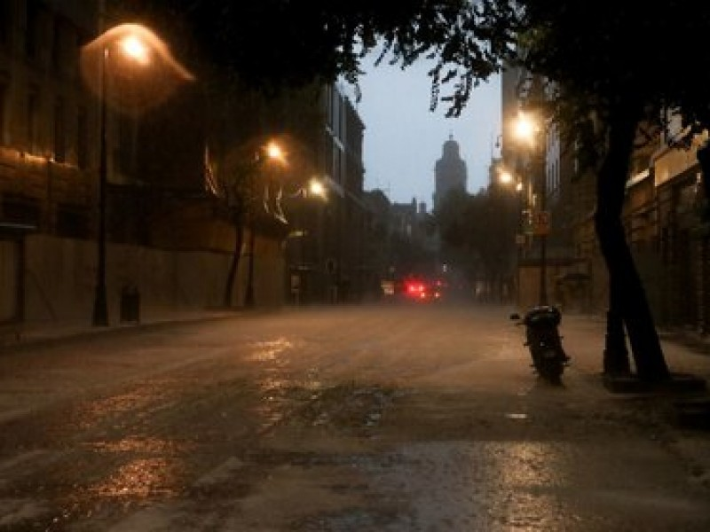 Se registra lluvia en gran parte de la CDMX