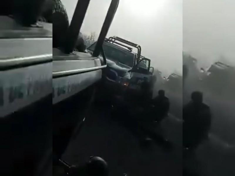 Se registra otro enfrentamiento entre grupos criminales y policías estatales