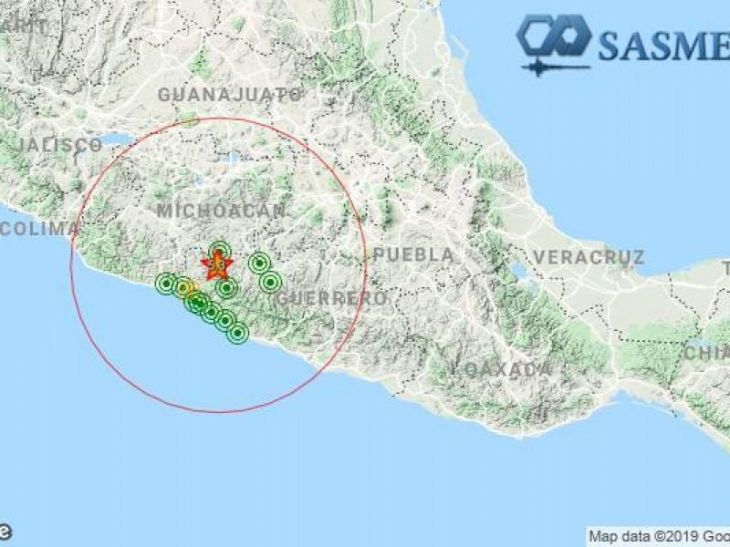 Se registra sismo de 5.3 grados; epicentro, Huetamo