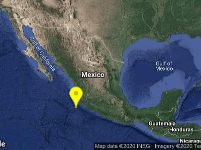 Se registra sismo en Cihuatlán sin afectaciones