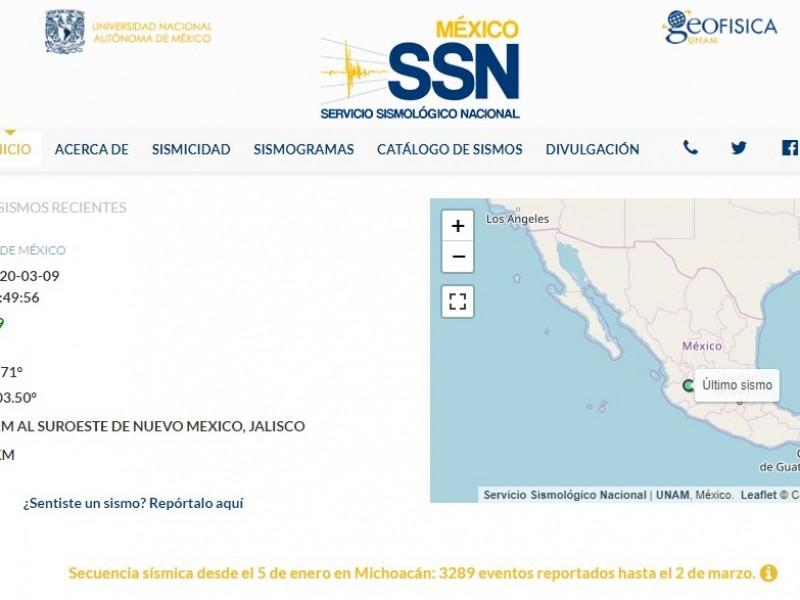 Se registra sismo en Guadalajara