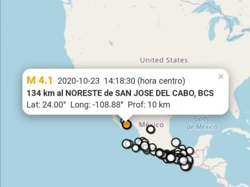 Se registra sismo imperceptible al noreste de SJC