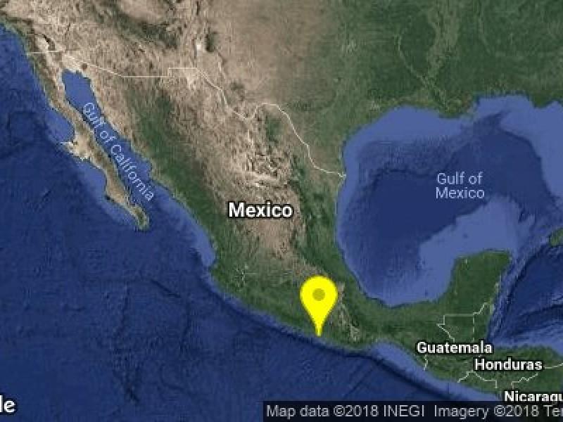 Se registra sismo magnitud 5.3 en Guerrero