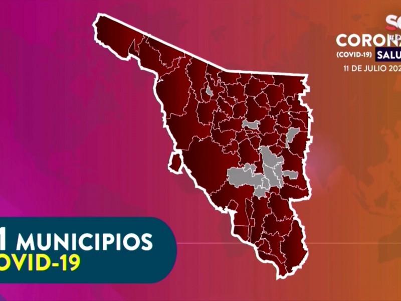 Son 68 casos de contagios en el sur de Sonora