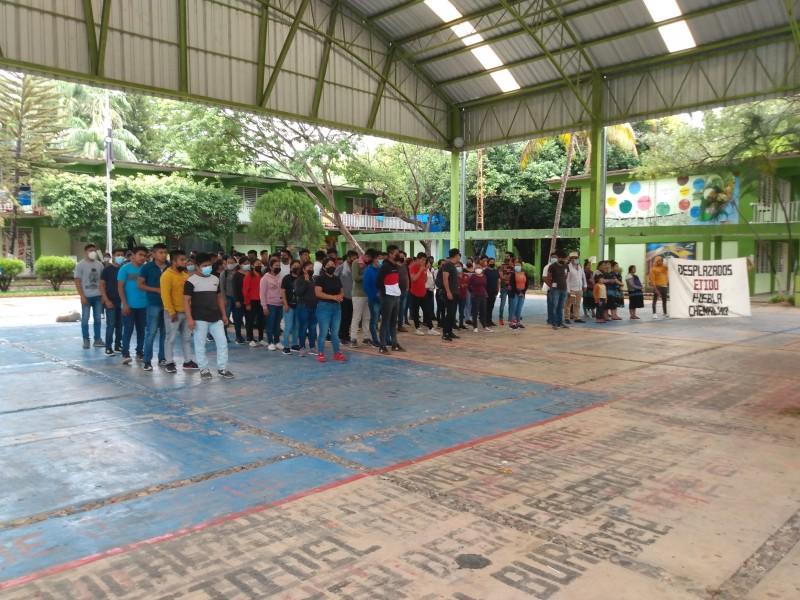 Se repliegan estudiantes de la Normal Rural Mactumatzá