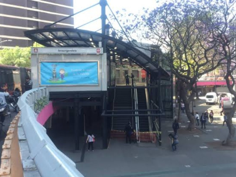 Se restablece servicio en estación Insurgentes del Metrobús
