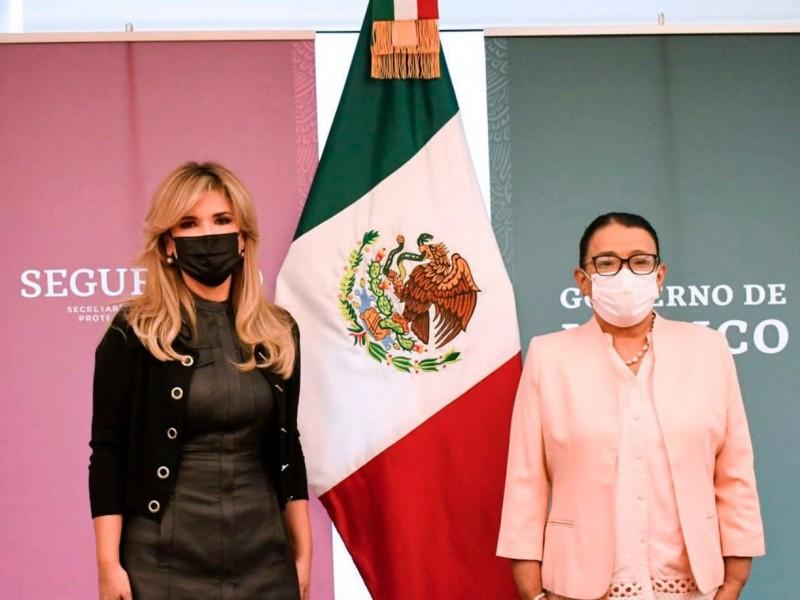 Se reúne Gobernadora Pavlovich con Secretaria de Seguridad en México