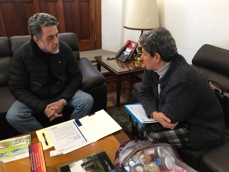 Se reúne rectora con subsecretario de educación