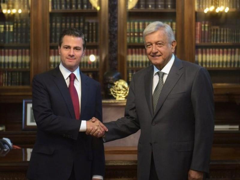 Se reúnen Peña Nieto y López Obrador