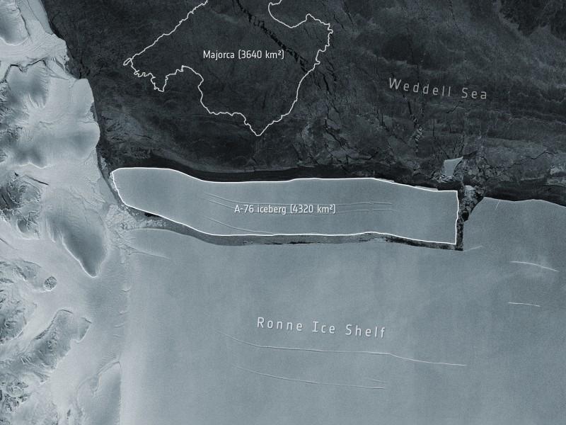Se separa de la Antártida Iceberg más grande del mundo