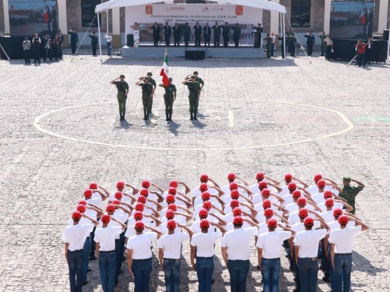 Se suman 216 jóvenes a servicio militar