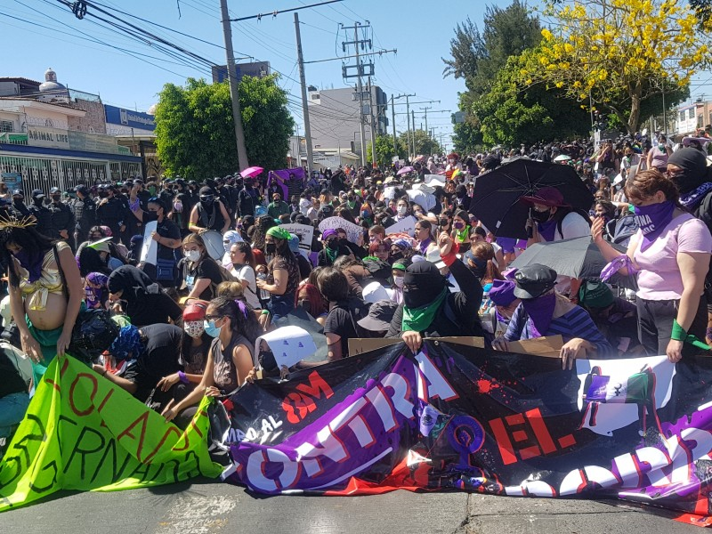 Se suman en Guadalajara a movilizaciones por el 8M