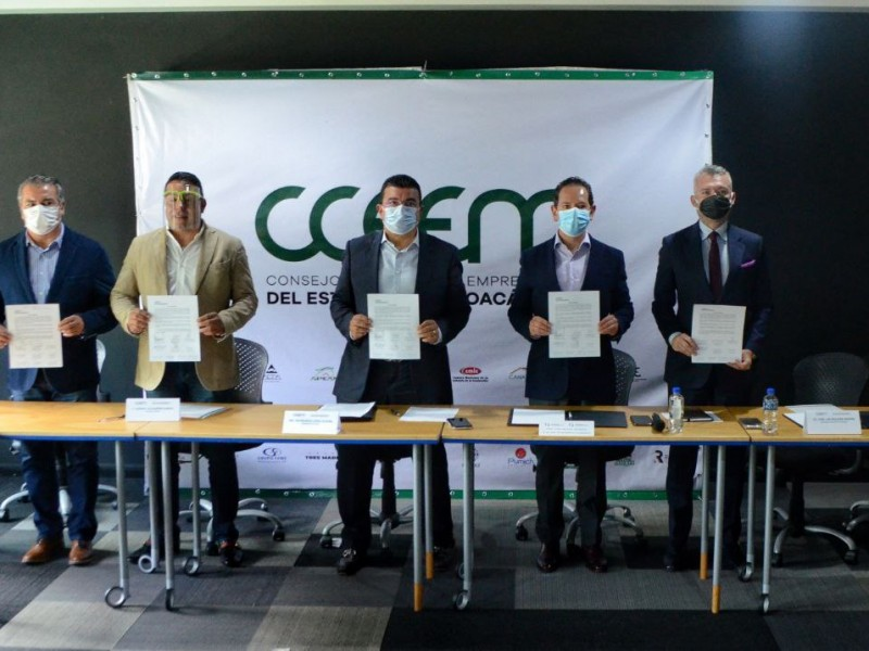 Se suman tres organismos empresariales al CCEEM