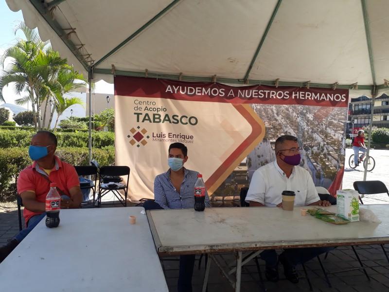 Se unen ciudadanos Nayaritas en apoyo a tabasqueños