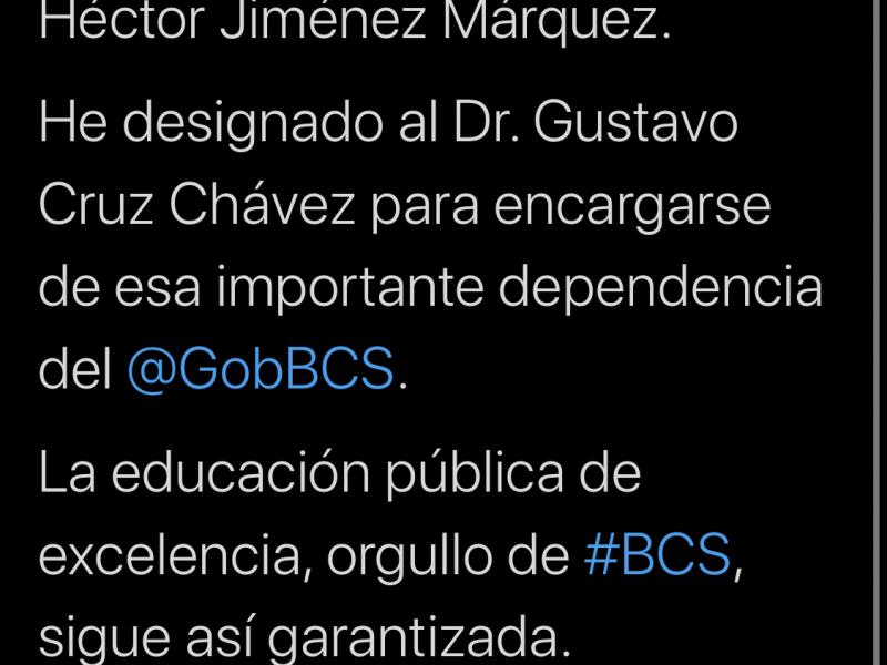 Se va Hector Jimenez de la Secretaria de Educación